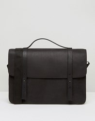 Asos Satchel In Black Leather Black