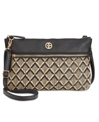 Giani Bernini Graphic Straw Look Crossbody Only At Macy's