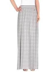 Twin Set Jeans Long Skirts Light Grey