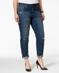 American Rag Plus Size Ripped Boyfriend Jeans Cecily Wash