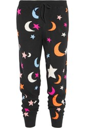 Chinti And Parker Midnight Sky Cashmere Track Pants Black