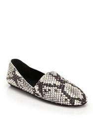 Vince Bogart Snakeskin Embossed Leather Loafers