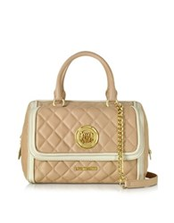 Love Moschino Nude Quilted Eco Leather Satchel Bag Pink