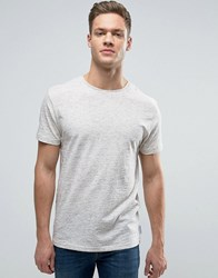Bellfield T Shirt In Slub Ecrus White