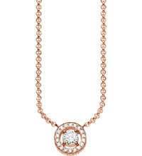 Thomas Sabo Light Of Luna 18Ct Rose Gold Plated Sterling Silver Necklace