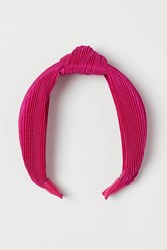 Handm H M Hairband With Knot Detail Pink