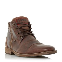 Dune Captains Double Toecap Lace Up Boots Brown