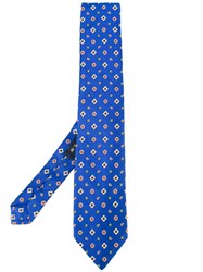 Etro Patterned Tie Blue