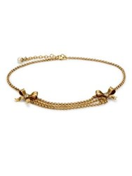 Gucci Bow Chain Belt Gold