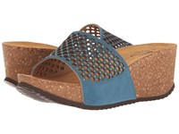 Spring Step Marni Blue Women's Wedge Shoes