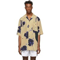 3.1 Phillip Lim Beige And Blue Oversized Hibiscus Floral Souvenir Tunic Shirt