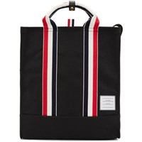 Thom Browne Black Striped Webbing Handle Tote