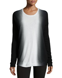 Vince Dip Dye Wool Cashmere Crewneck Sweater