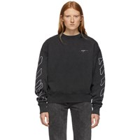 Off White Black And Abstract Arrows Sweatshirt