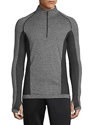 Hpe Cross X Seamless Quarter Zip Top Grey