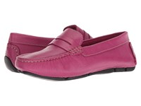 Massimo Matteo Penny Keeper Magenta Denver Leather Moccasin Shoes Pink