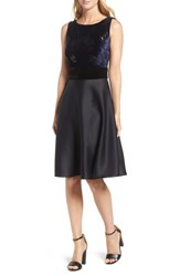 Taylor Dresses Women's Fit And Flare Dress Navy Black