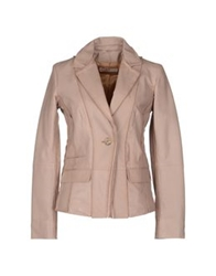 Galliano Leather Outerwear Pink