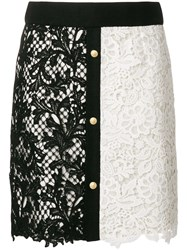 Fausto Puglisi Macrame Embroidered Skirt Black