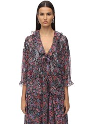 Zadig And Voltaire Printed Georgette Shirt Multicolor