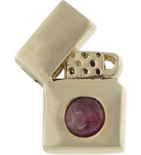 Marc Jacobs Lighter Single Stud Earring Red Gold