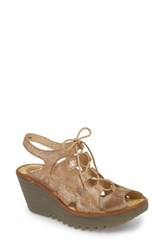 Fly London Yexa Sandal Luna Camel Cool Leather