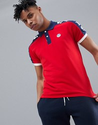 North Sails Polo Shirt With Sleeve Print In Red