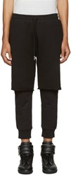 Diesel Black Layered P Vicente Lounge Pants