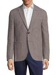 Etro Deconstructed Cotton And Linen Jacket Brown