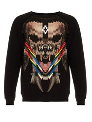 Marcelo Burlon Mantanzas Skull Print Cotton Sweater Black Multi
