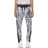Dolce And Gabbana Black White Love Tradition Lounge Pants Hwy62f.Bia