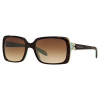 Tiffany And Co. Tiffany And Co Tf4047b Rectangular Sunglasses Brown Blue