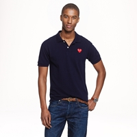 J.Crew Play Comme Des Garcons Polo In Navy