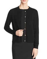 Bloomingdale's C By Faux Pearl Button Cashmere Sweater 100 Exclusive Black