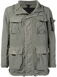 Belstaff Hooded Cargo Jacket Green