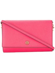 Tory Burch Robinson Chain Wallet Pink
