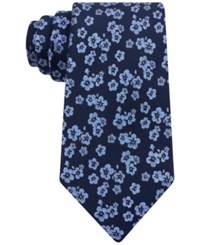 Michael Kors Men's Dance Floral Classic Tie Blue