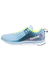 Reebok Sublite Duo Speed Lightweight Running Shoes Denim Glow Faux Indigo Solar Yellow White Light Blue