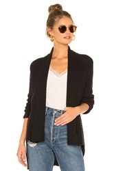 525 America Open Front Cardigan Black