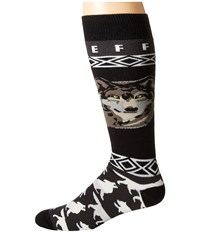 Neff Wolf Head Snow Socks Black White Men's Thigh High Socks Shoes
