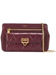Givenchy Embossed Chain Wallet Purple