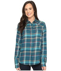 Stetson Brushed Twill Ombre Plaid Shirt Blue Women's Clothing