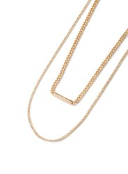 Topman Gold Slick Chain Necklace