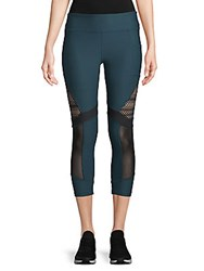 X By Gottex Mixed Mesh Capri Leggings Black