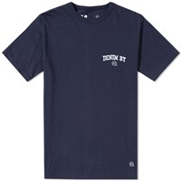 Denim By Vanquish And Fragment Round Contrast Logo Tee Blue