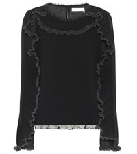 See By Chloe Ruffled Top Black