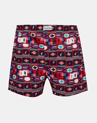 Happy Socks Aztec Woven Boxers Red