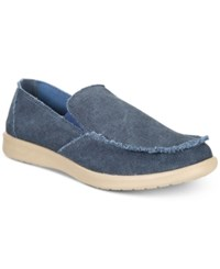 Weatherproof Vintage Men's Pontoon Canvas Slip On Shoes Men's Shoes Navy