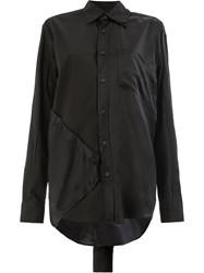 Moohong Panelled Shirt Black