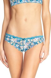 Honeydew Intimates Women's Camellia Lace Thong High Tide Floral